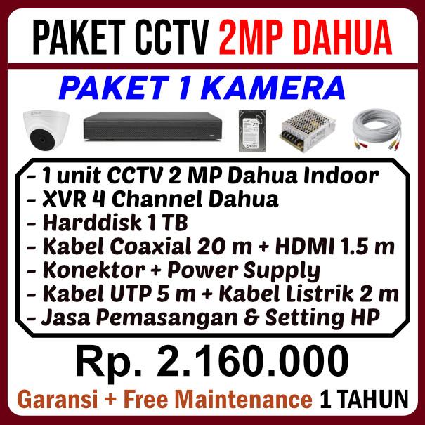 Paket CCTV 1 Kamera Dahua 2MP