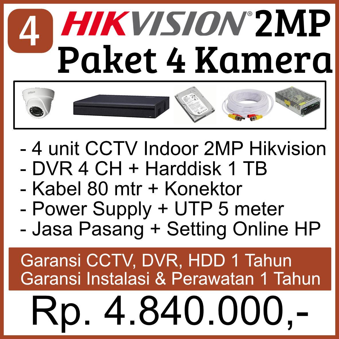 paket cctv hikvision murah